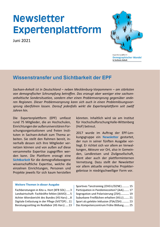 Cover EPF-Newsletter 2021-06